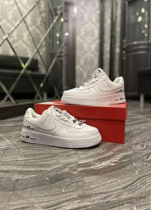 Кроссовки nike air force 1 low added airwhite black