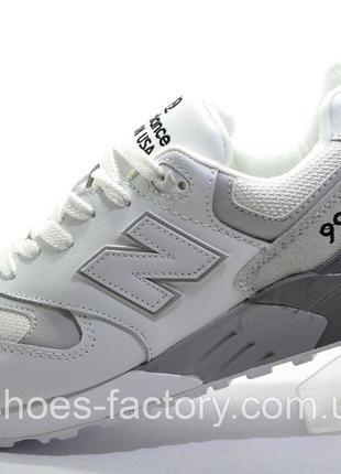 Кроссовки мужские New Balance 999, Белый/Серый, купить со скидкой