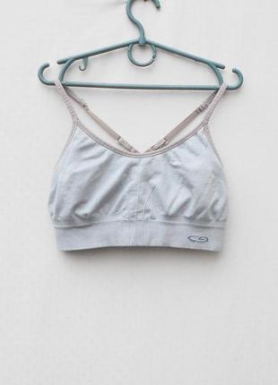 Серый спортивный топ женская спортивная одежда