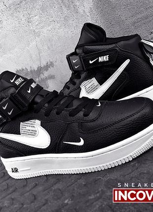 Мужские кроссовки Nike Air Force 1 Mid Black
