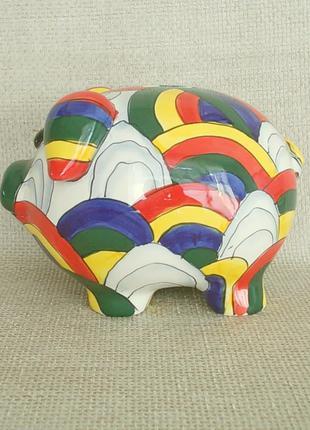 №485 Копилка керамическая большая свинья ручная работа Германия