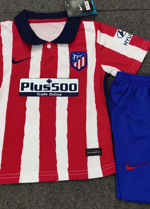Детская Футбольная Форма Атлетико Мадрид Сезон 2020-21 Домашняя
