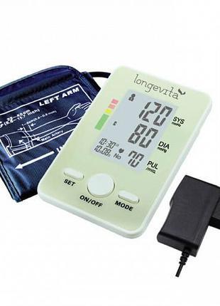Автоматический тонометр LONGEVITA BP 102 + адаптер, тонометр