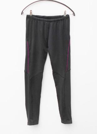 Черные спортивные длинные лосины женская спортивная одежда