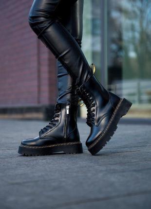 🔥крутые кожаные ботинки с мехом