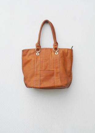 Рыжая  сумка шоппер
