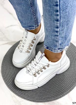 Шикарные женские кроссовки натуральная  кожа