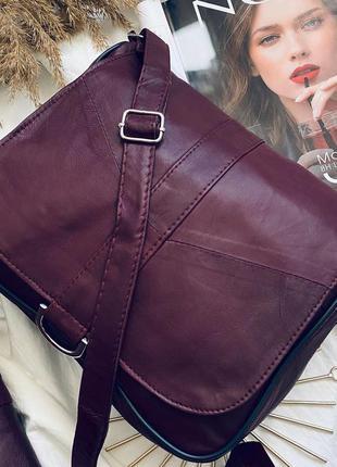 Кожаная сумка клатч