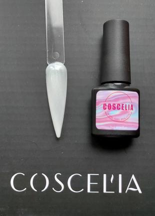 Гель лак для ногтей белый перламутровый №1 нюдовая коллекция c...