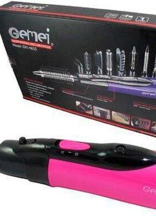Фен-стайлер для волос 10в1 gemei gm-4835