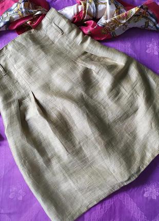 🎁 оливковая льняная юбка s.oliver, как дикий шелк