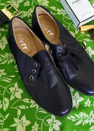Удобные кожаные туфли на шнурках, мокасины, кроссовки zlett, м...
