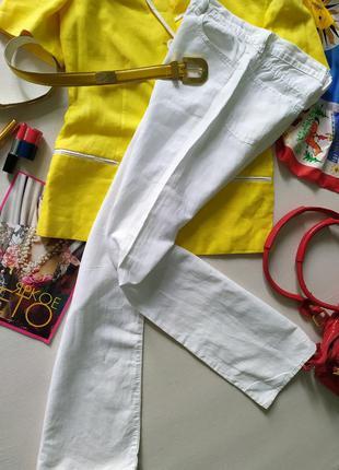 Белые винтажные длинные прямые брюки, облегченные джинсы, Diesel