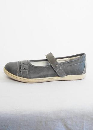 Кожаные балетки лодочки мокасины туфли на плоской подошве vado...