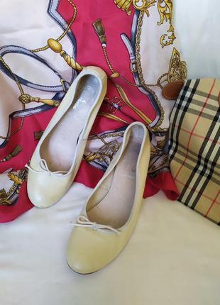 Легкие мягкие кожаные туфли с бантиком bata под chanel, винтаж