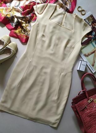 Шерстяное винтажное миди платье футляр madeleine, тонкая шерсть