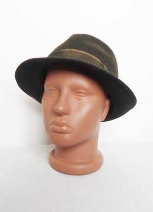 Классическая фетровая шерстяная  шляпа федора  sportivo