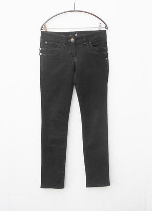 Черные стрейчевые осенние джинсы