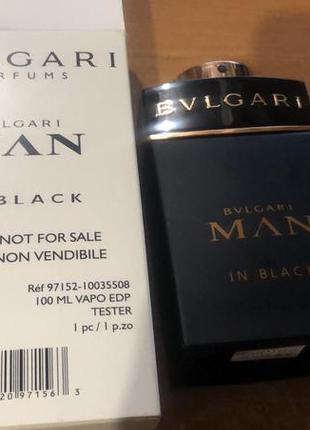 Bvlgari man in black парфюмированная вода, тестер