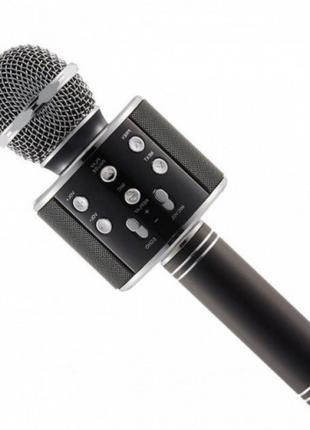 Беспроводной микрофон караоке блютуз WS-858 Bluetooth динамик USB
