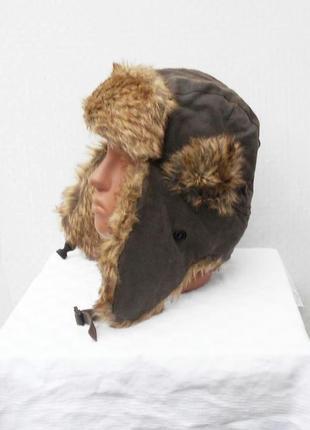 Зимняя теплая меховая шапка ушанка