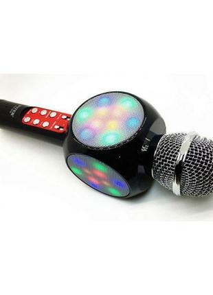 Беспроводной микрофон караоке блютуз WSTER 1816 Bluetooth динамик