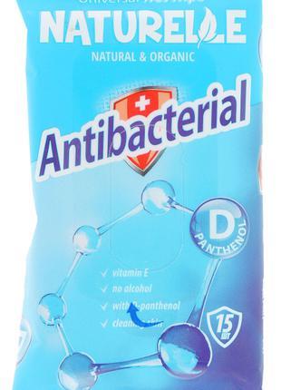 Влажные салфетки антибактериальные Naturele Antibacterial 15 штук