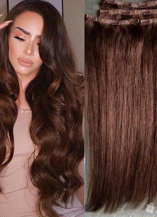 Волосы на заколках натуральные, бесплатная доставка