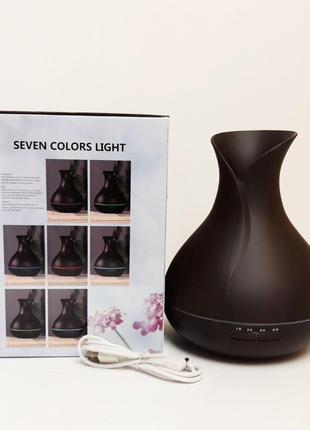 Арома-увлажнитель ( LED подсветка ) на 7 цветов USB 400мл