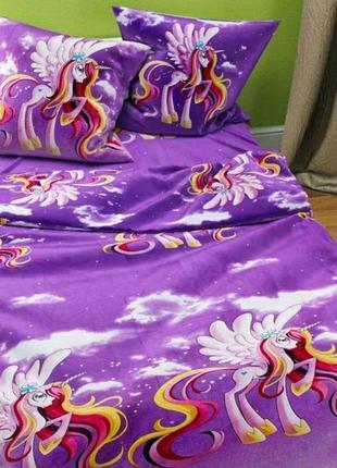 Комплект постельного белья для девочки единорог