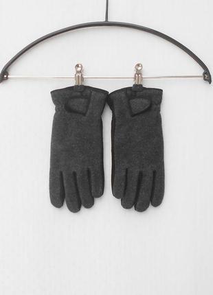 Зимние осенние замшевые шерстяные перчатки на флисе