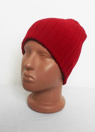 Осенняя зимняя вязаная шапка