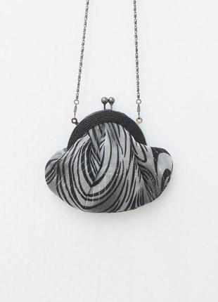 Маленькая тканевая вечерняя сумочка на цепочке  rich bags