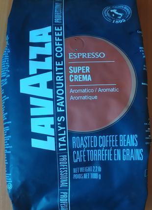 Кофе натуральный в зёрнах Lavazza Espresso Super Crema