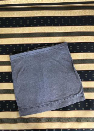 Мини юбка синяя распродажа синя спідниця h&m