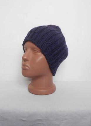 Осенняя шапка крупной вязки
