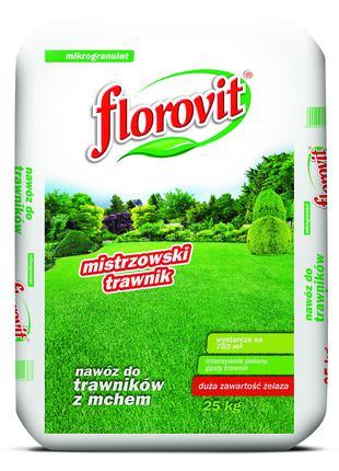 FLOROVIT добриво для газону з мохом 25кг. ФЛОРОВІТ