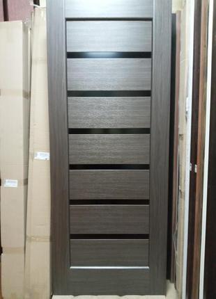 Дверь межкомнатная Линея 80 см грей Новый Стиль