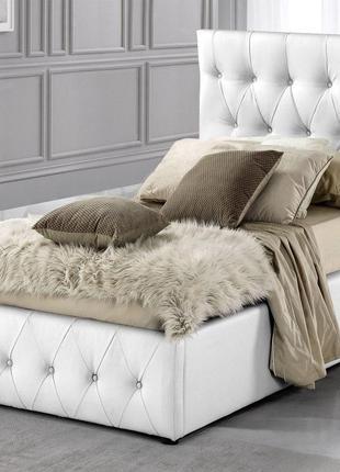 Ліжко односпальне Зінус з м'яким узголів'ям 900*2000 Кровать  одн