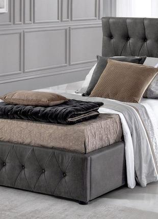 Кровать с мягким изголовьем односпальная ZINUS 900*2000 Ліжко одн