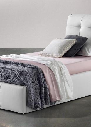 Кровать с мягким изголовьем односпальная STONE 900*2000 Ліжко одн
