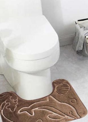 Очень красивый плюшевый коврик для ванной, туалета