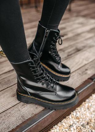 Ботинки dr martens в черном цвете из кожи (36-40)💜