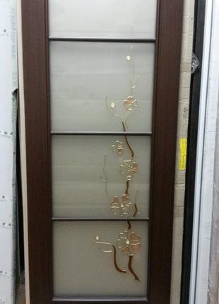 Дверь межкомнатная Виктория 70 см венге Новый Стиль