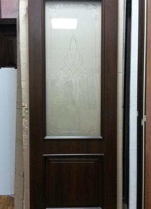 Дверь межкомнатная Вилла 70 см каштан Новый Стиль
