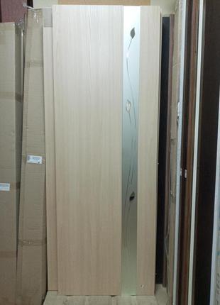 Дверь межкомнатная Злата 70 см ясень Новый Стиль