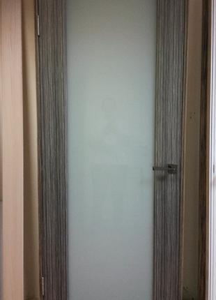 Дверь межкомнатная Глазго 80 см эбен шпон