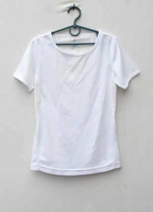 Белая спортивная футболка  женская спортивная одежда nrg