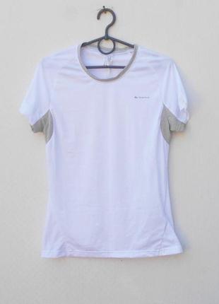Белая легкая дышащая спортивная футболка  женская спортивная о...