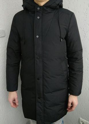 Пуховик мужской куртка мужская Simwood, парка на пуху с капюшоном